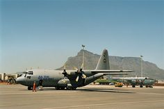 SAAF Hercules @ Ysterplaat, the military airfield near Cape Town. C130 Hercules, C 130, Planes, South Africa, Air Force, Fighter Jets, Transportation, Aviation, Aircraft