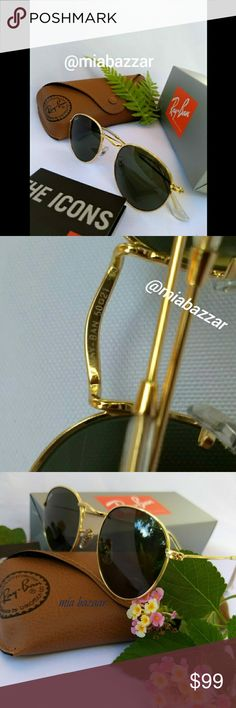 518686c1d7d Ray Ban Round Classic Sunglasses 3447 News and authentic Frame   Gold color  Lens   G15