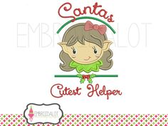 Cutest helper girl. - Machine Embroidery Design for sale at http://www.southerncrossembroidery.com/market/cutest-helper-girl/