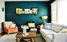 teal accents living room modern tables for 90 best images diy ideas home house 19 awesome accent wall to transform your
