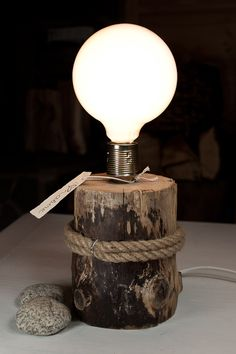 wooden lamp …