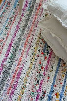 kinoko: A crocheted rug - fabric