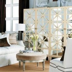"""I think I could totally make these mirrored cabinets with a ikea """"billy"""" bookcase with added ikea doors! A little bit of moulding, and some mirrors...and wah-la!"""