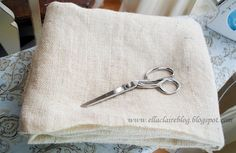How to wash and cut Burlap! Make the smell go away, and even out the edges.... easily!