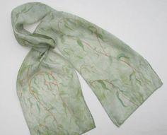 Breezy Willow Hand Dyed Silk Scarf. $55.00, via Jan Allmon Studio on Etsy.