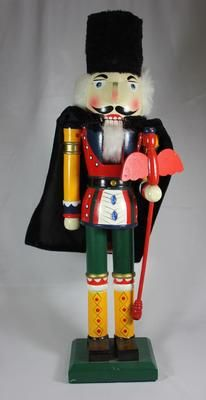 Large Wooden German Nutckracker Hand Crafted Painted Cape | eBay