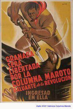 Luis García Gallo Nazi Propaganda, Spanish War, Political Posters, Poster S, High Art, Socialism, Popular Culture, Revolutionaries, World War