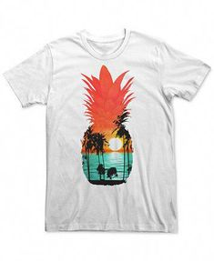 476abb36 Fifth Sun Men's Guava Dreams Pineapple with Palms & Sunset T-Shirt |  macys