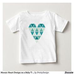 Mosaic Heart Design on a Baby T-shirt