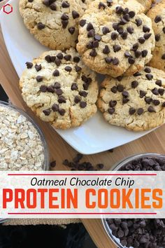 Now you can enjoy an entire plate of cookies without the guilt! You can even be like me — I was an extreme rebel and ate all of them for breakfast! They are perfect with a cup of coffee. Healthy Sweet Treats, Healthy Cookies, Healthy Baking, Healthy Desserts, Peanut Butter Protein Cookies, Protein Desserts, Protein Snacks, Gluten Free Desserts, Protein Muffins