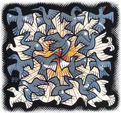 """M.C. Escher, """"Sun and Moon,"""" 1948."""