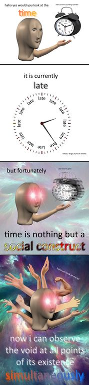 can a man dream of observing the void : surrealmemes