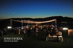 Outdoor reception on the golf course at Revere Golf Club in Henderson, NV