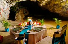 World's Most Unique Dining ExperiencesSEASIDE DINING AT NAMALE RESORT & SPA Where: Savusavu, Fiji  At the all-inclusive Namale Fiji resort, a candlelit pathway sprinkled with flower petals guides guests into a cave archway on the edge of the Koro Sea for dinner in Pacific bliss. With tiki torches flickering against the lava rock, take in rainforest vistas as you sample Fijian kokoda made with the catch of the day.