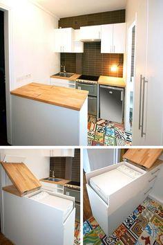 Astuces IKEA Pour Décorer Et Gagner De La Place Buanderie Cuisine - Lave linge pour idees de deco de cuisine