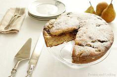 Torta Torta di farro pere e cioccolato uses farro flour, but can use spelt or bakers flour, same proportions
