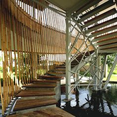 Pool Design Under Bamboo Building By Yoka Sara Contemporary Balinese Architect With An Innovative Tropical Architecture And Modern Style
