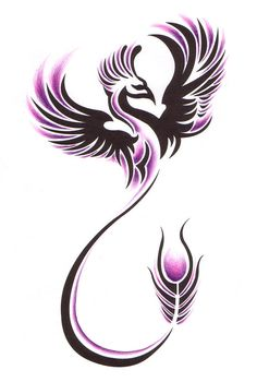 Phoenix tattoo....a phoenix obtains new life by arising from the ashes of its predecessor.