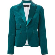 Dsquared2 satin lapel blazer (£945) ❤ liked on Polyvore featuring outerwear, jackets, blazers, blue, dsquared2 jacket, blue satin jacket, blue blazer, satin jacket y satin blazer