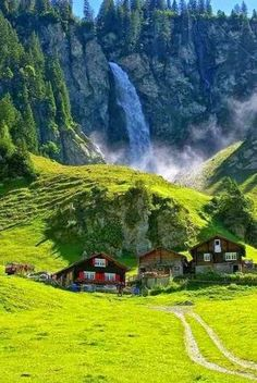 Waterfall, Klausenpass, Switzerland - Switzerland is truly one of the most beautiful places in the world. Places To Travel, Places To See, Travel Destinations, Europe Places, Tourist Places, Holiday Destinations, Places Around The World, Around The Worlds, Wonderful Places