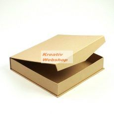 Kreatív hobby - Kreatív hobby doboz, lapos, natúr 19x19x4