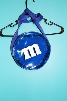 90s Clear Blue PVC M&M Purse by JUNKKYARD on Etsy, $26.50