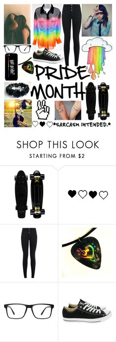 """""""ITTSS PRIDE MONTH!!!🏳️🌈"""" by lyonserenity ❤ liked on Polyvore featuring BeYou, New Look and Converse"""
