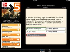 AP U.S. History 5 Steps to a 5 (Best America history apps for high school)