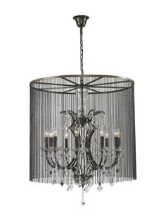 Vaille Medium Chandelier by Bois et Cuir by CDI Intl at Gilt
