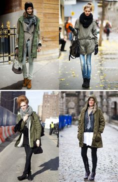official photos c6334 ce113 collagevintage | Green parka in 2019 | Green parka, Parka ...
