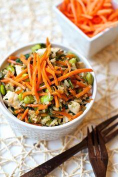 Chicken & Veggie Stir Fry Rice | MarlaMeridith.com ( @marlameridith )