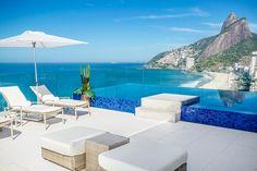 Hotel Praia Ipanema - an incredible view of the Dois Irmaos mountains.