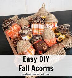 Easy DIY Fall Acorns - Modern on Monticello