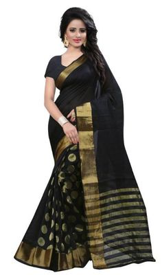 Looking to buy Craftsvilla - Sarees online? Huge collection of Craftsvilla - Sarees available in different colors, patterns, designs & price ranges.Craftsvilla, your own ethnic store Silk Cotton Sarees, Cotton Fabric, Sarees Online, Indian Outfits, Beautiful Outfits, Black And Grey, Gray Color, Sari, Clothes