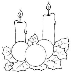Candles and holly Christmas Colors, Christmas Art, Christmas Projects, Christmas Ornaments, Applique Patterns, Applique Quilts, Quilt Patterns, Colouring Pages, Coloring Books