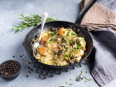 Risotto med kylling Frisk, 20 Min, Risotto, Paella, Bacon, Ethnic Recipes, Food, Essen, Meals