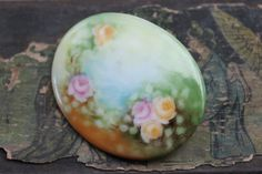 Large Victorian Hand Painted Porcelain by TheHiddenChamber on Etsy, $12.85