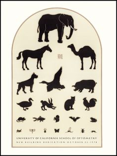 Poster by David Lance Goines for University of California School of Optometry Brooklyn Book, Japanese Woodcut, Eye Chart, Communication Art, Science Nature, Vintage Posters, Design Art, Illustration Art, Illustrations