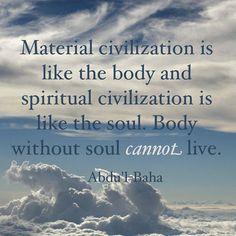 true civilization, Abdu'l-Baha