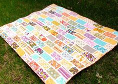 simple jelly roll strip lap quilt | Pin This Quilts Pattern Is Christmas Cactus 3rd Quarter 19th Century ...