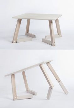 Table designed with idea of deer legs in mind