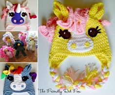Unicorn Crochet Hats