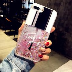 Liquid Glitter Nail polish Phone Case for iPhone #iphone6scase,