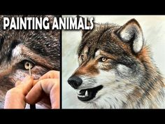 A Different Way To Paint Beautiful Animals - PaintingTube Wolf Painting, Acrylic Painting Techniques, Painting Videos, Painting Abstract, Watercolor Paintings Of Animals, Animal Paintings, Animal Drawings, Silhouette Painting, Pictures To Paint