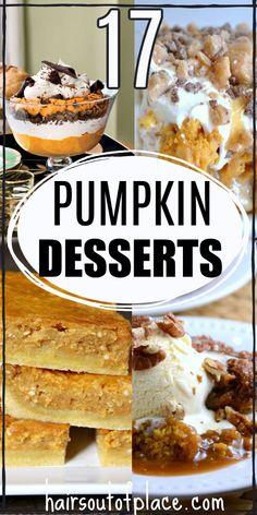 Fall Dessert Recipes, Fall Desserts, Fall Recipes, Holiday Recipes, Delicious Desserts, Pumpkin Cookies, Pumpkin Dessert, Pumpkin Bread, Cake Cookies