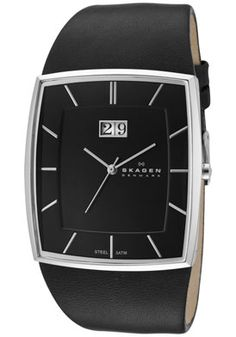 Did you know that you can get elegant Skagen watch for under $90? #Skagen 567LSLB #Watch Men's Black Dial Black Leather - check now at http://www.getnewwatch.com
