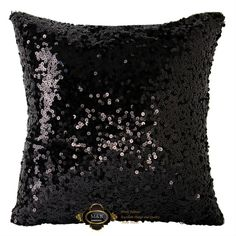 Hot one side shining black sequin square cushions display villa art hotel cushion cover/pillowcase/pillow cover/cushion case. $11.00.
