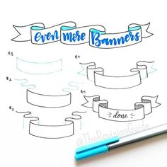 """How to draw banners... #TheRevisionGuide_HowTo add these to your notes and your notes would instantly become more interesting :) #TheRevisionGuide_Banners…"":"
