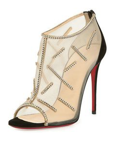 Christian Louboutin ��Gypsandal�� Ring-Trim 100mm Red Sole Sandals