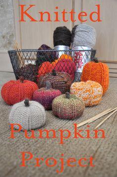 DIY Knit Pumpkins - Dan 330